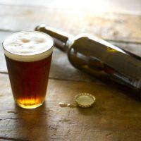 飲食店とビール瓶の栓